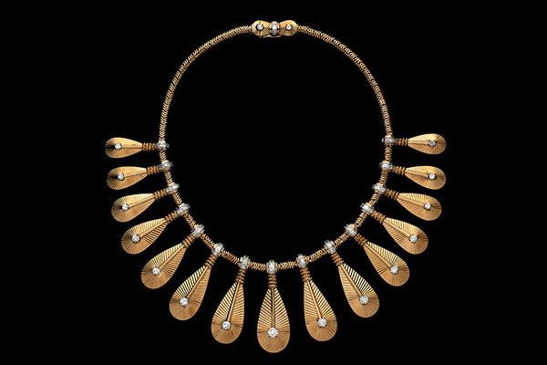 Cartier gold and diamond 'Tribal Fringe' Necklace, circa 1958.