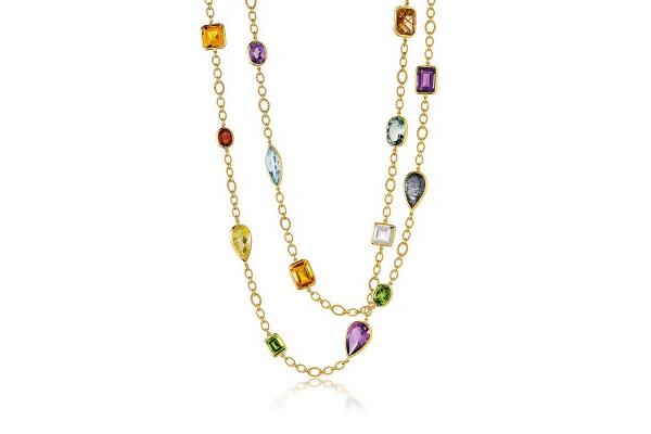 Five Link Confetti Necklace